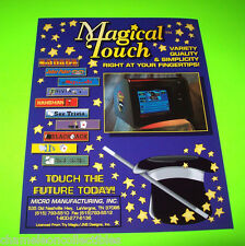 MAGICAL TOUCH By MICRO ORIGINAL NOS COUNTERTOP VIDEO ARCADE GAME SALES FLYER