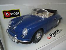 "Bburago  Porsche  356B  Cabriolet  ""1961"" (blau) 1:18 OVP !"