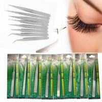Stainless False Eyelash Extension tools Tweezers Russian 3D Volume Lash Good CA#