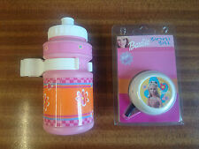 BARBIE GIRLS BIKE FUNKY BELL WITH FREE BOTTLE PINK IDEAL GIFT NEW H/BAR FIT