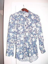 1978 TV GAME SHOW PRIZES KARMAN FLORAL WESTERN PEARL SNAP SHIRT SIZE 12? WOMENS