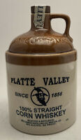 Vintage Platte Valley McCormick Corn Whiskey Stoneware Jug  Liquor Bottle