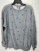 Wildfox Couture Womens Stars Pullover Sweater Gray