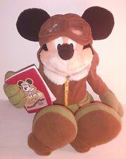 Peluche Pupazzo Topolino Mickey Mouse Champion Flyer 1928 Aviatore 40cm Disney