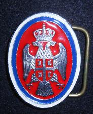 Serbian officers belt buckle