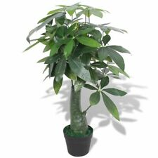 vidaXL Artificial Fortune Tree Plant with Pot 85cm Green Fake Foliage Home