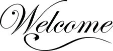 Welcome decal wall door removable front sticker home decor foyer quote decor