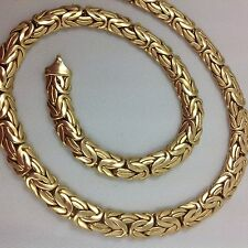 """8.6MM 35.3 GRAMS 18"""" NICER STYLE 14K YELLOW GOLD BYZANTINE NECKLACE"""