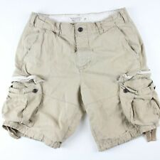 Abercrombie & Fitch Men's Cargo Shorts 30 Beige w Pockets