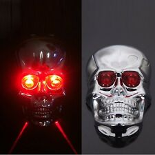 Red Clour Motorcycle skull LED Tail Light Lamp Fit For bikes