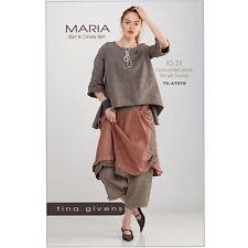 """TINA GIVENS """"MARIA SHIRT & CRINKLE SKIRT"""" Sewing Pattern"""