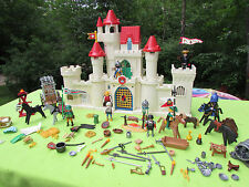 nice lot Playmobil knights medevial  figures & accessories with castle playset