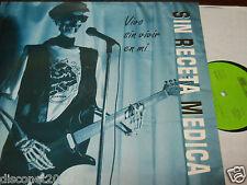 """SIN RECETA MEDICA - Vivo Sin Vivir En Mi, LP 12"""" PUCELA PUNK 1993 NUEVO"""