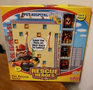 RESCUE HEROES Pet Rescue Kids Board Game By Fisher Price NEW IN BOX