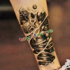 Machinery Arm Rimovibile Impermeabile Temporaneo Tatuaggio Arte Tattoo Adesivo