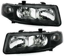 black finish H1 H7 headlights front lights SET for SEAT LEON TOLEDO 1M