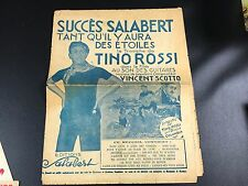 VINTAGE ANCIENNE PARTITION TINO ROSSI SUCCES SALABERT