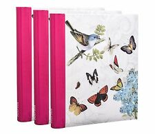 3 X Self Adhesive Photo Albums Totaling 108/Sheets 216/Sides Vintage Butterfly