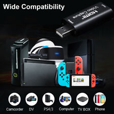 USB 2.0 HD 1080P HDMI Video Capture Card Live Streaming Grabber VHS Recorder!!