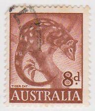 (PDX569) 1959 AU 8d Brown Tiger Cat (E)
