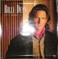 BILLY DEAN What I Do Capitol-Nashville promo poster, 1996, 24x24, EX, country