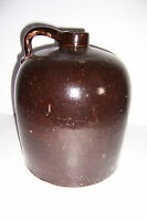 ANTIQUE VINTAGE BROWN 2 GALLON STONEWARE CROCK JUG