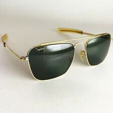 Vintage Ray Ban B&L USA ECHELON Sunglasses gold caravan aviator square olympian