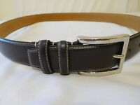 Cole Haan Belt Men BLACK Size 34 Leather New Feather Ege Smooth Panel