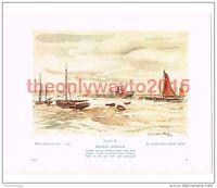 Brixham Harbour, Devon, Adrian Hill, Book Illustration (Print), c1939