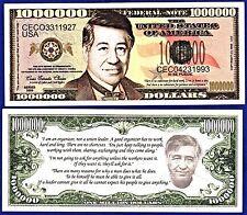 1- Cesar Chavez Million Dollar Bill-Collectible-Novelty -Money- Farm Workers-F1
