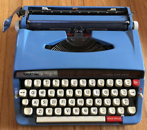 Brother Opus 889 Automatic Repeat Spacer Portable Typewriter With Case Working