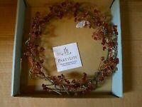 "NIB PartyLite Gem Stones Pink & Red Crystal Jewel 8.5"" Centerpiece Ring P7835"
