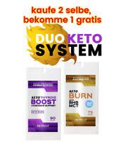 Keto Burn & Schilddrüse Kapseln Ketose Diät Fettverbrenner Schnell Abnehmen
