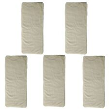 5 Bamboo Inserts For Junior Big Cloth Diaper Nappy Reusable 4 Layer