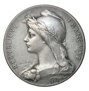 France Seine Maritime Prefect Silver Award Medal By Oscar Roty
