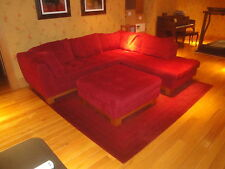 Roche Bobois Contemporary French Red Crimson Sectional