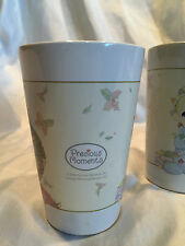 Set of 2 Precious Moments by Sherwood Holiday Lights/Wreath Mugs Cups 2006