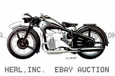 Zundapp 4 cylinder motorcycle photo print - Poster  print ca 8 x 10 print poster