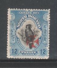 NORTH BORNEO 1916 12c DEEP BLUE MINT STAMP.