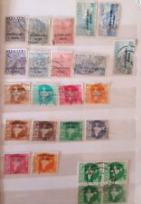 Nice collection of 20 diff.Indian used  Military stamps overprinted 1954