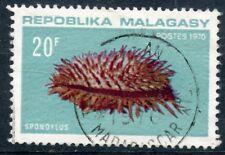 TIMBRE DE MADAGASCAR N°479 OBLITERE POISSON SPONDYLUS