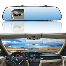Dual Lens Car Camera Rearview Mirror Auto DVR Parking Video Cam Full HD 1080P