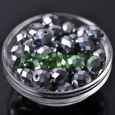 Wholesale 14mm 16mm 18mm Rondelle Faceted Crystal Glass Loose Spacer Big Beads
