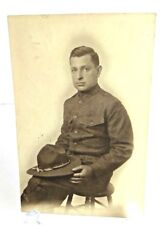 Vintage WW1 Solider United States Army Photograph Photo Card Picture Gay Fad