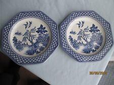 "2 x Royal Staffordshire/J G Meakin ""Willow"" Tea Plates"