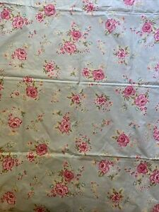 Pottery Barn Kids Shabby Chic Blue Pink Floral Savannah Baby Toddler Duvet Cover
