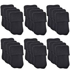 BCP 24pcs Knitting Wool Furniture Socks/ Chair Leg Floor Protector (Black