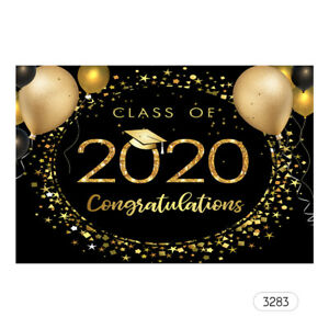 7*5ft Professional Backdrop The Class of 2020 Graduation Photography B5M9