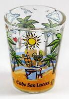 CABO SAN LUCAS MEXICO PALMS BOTTOM DESIGN SHOT GLASS