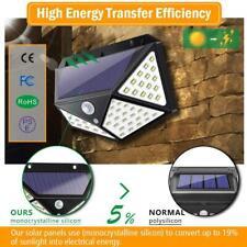 100 LED Solar Power Wall Light PIR Motion Sensor Outdoor Garden Lamp Waterproof.